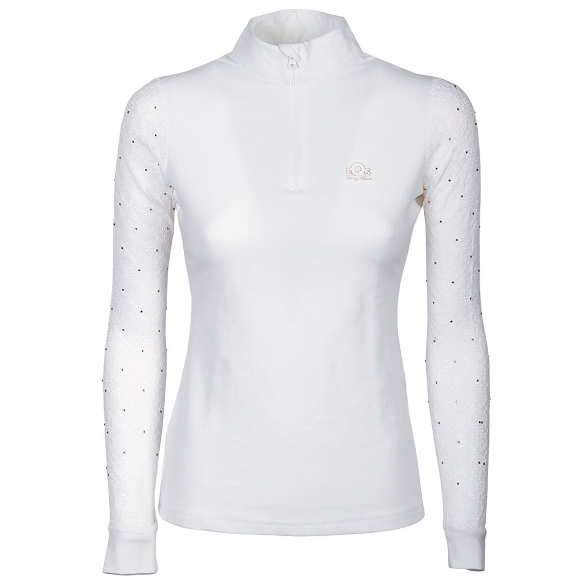 Turniershirt Crystal Lace Harry's Horse�in Wei�